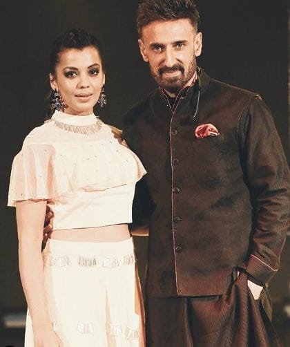 Mugdha and Rahul Dev