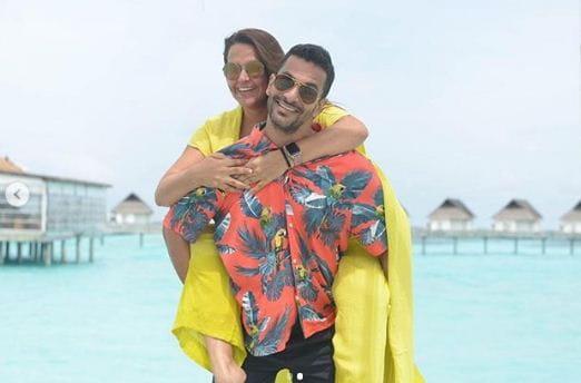 Angad Bedi and Neha Dhupia