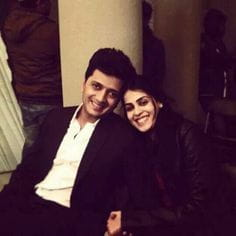 Ritesh Deshmukh with his wife Genelia