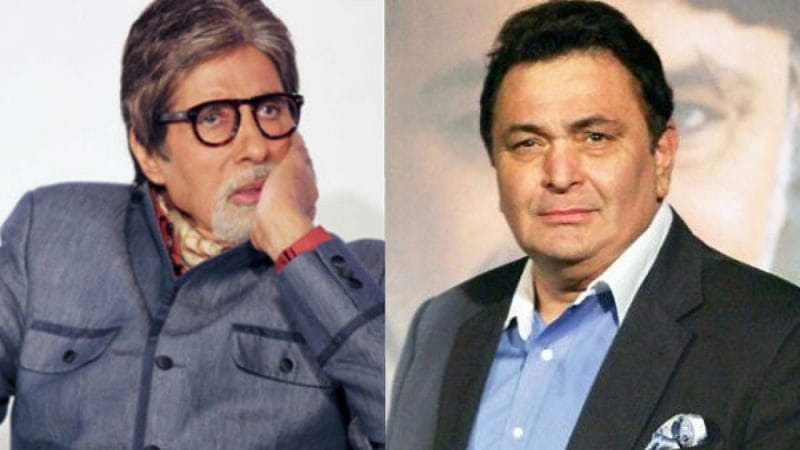 Rishi Kapoor and Amitabh
