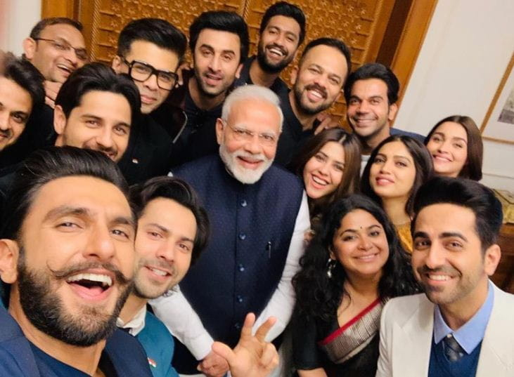 PM Narendra Modi With Bollywood Celebrities
