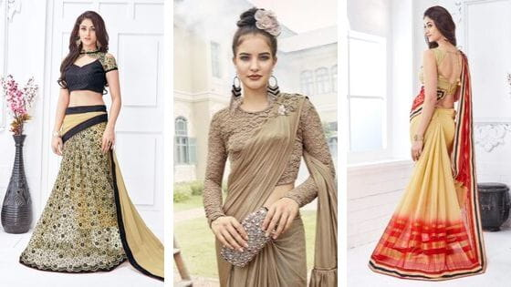 Easy And Innovative Saree Draping Styles