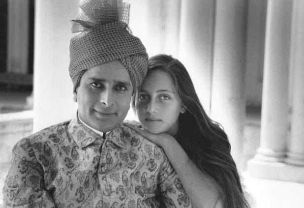 Shashi Kapoor and Jennifer Candle