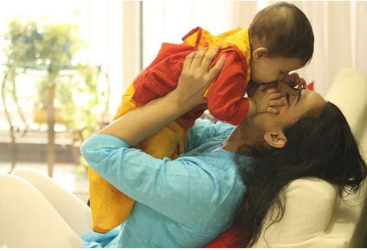 Shweta Tiwari With Son