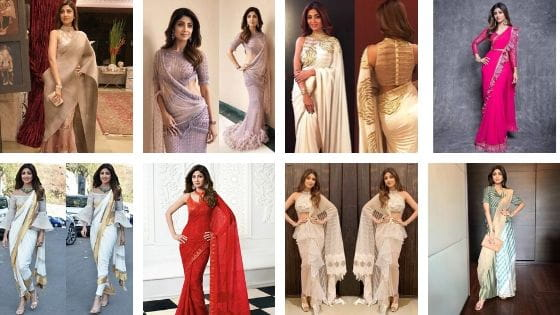Latest Saree Blouse Designs By Shilpa Shetty