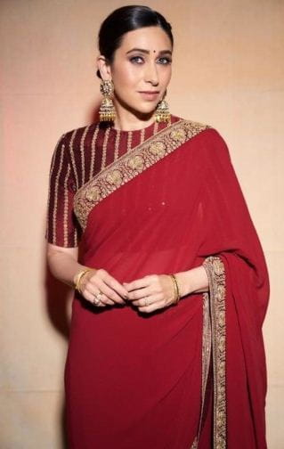 Karishma Kapoor in Red Saree