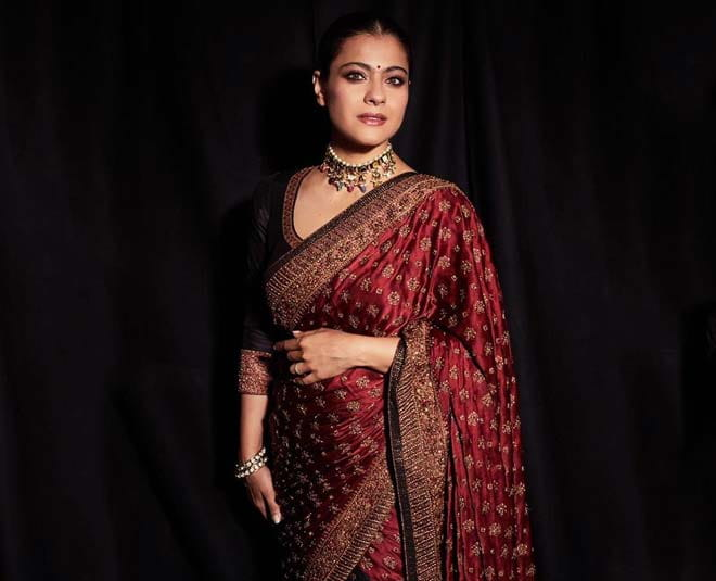 Kajol Devgan in Red Saree
