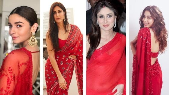 Bollywood Actress Likes Red Saree