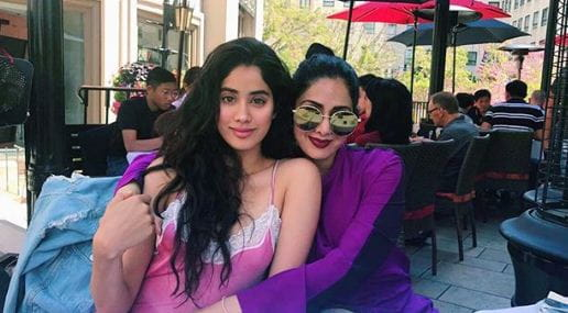 Sridevi and Jahnvi Kapoor