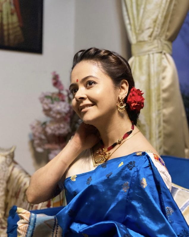 devoleena bhattacharjee in saree