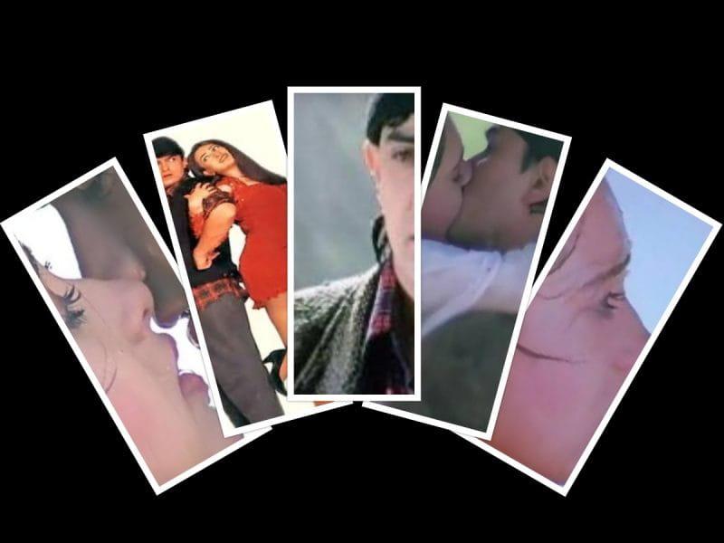 Karishma kapoor aamir khan kissing scene