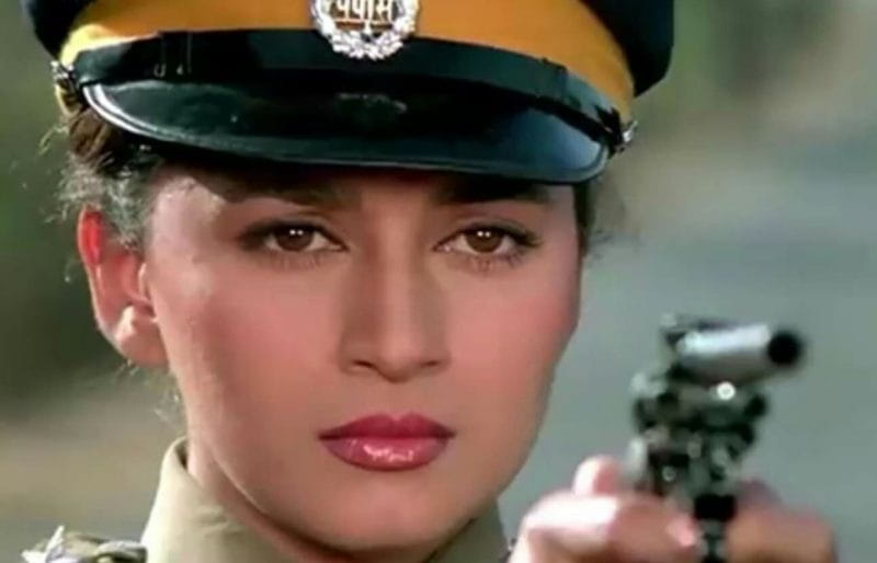 madhuri dixit film khalnayak police officer look