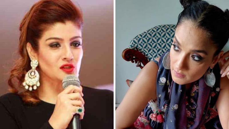 Raveena Tandon And Sandhya Mridul