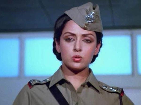 hema malini film andha kanoon police officer look