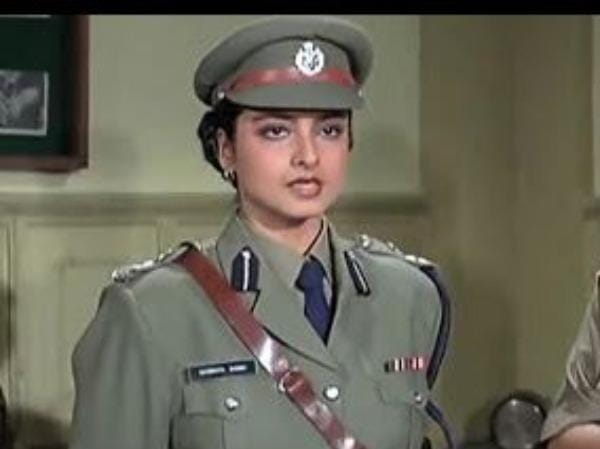 rekha film phool bane angaray police officer look