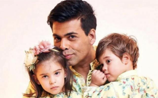 Karan Johar with his two kids