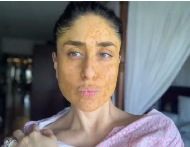 Kareena Kapoor Khan with face pack