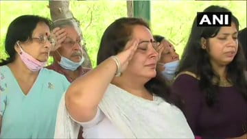 Colonel Ashutosh Sharma wife daughter final salute