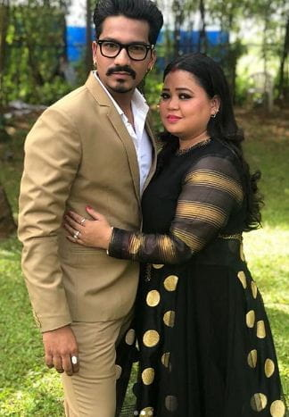 Bharti Singh with her husband harsh
