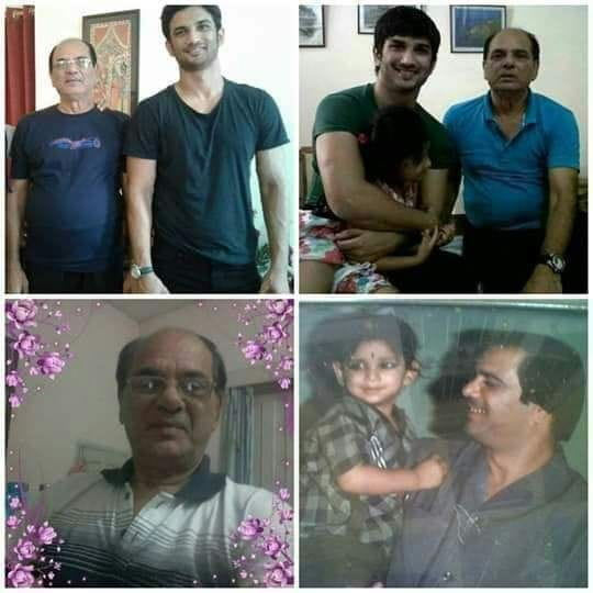 Sushant Singh Rajput and his father