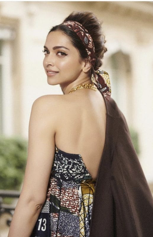 Deepika Padukone in backless dress