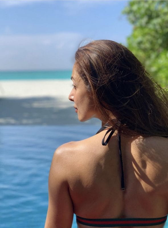 Malaika Arora going backless