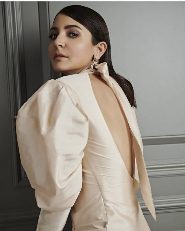 Anushka Sharma in backless dress