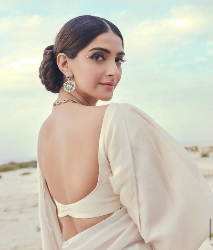 Sonam Kapoor in backless dress