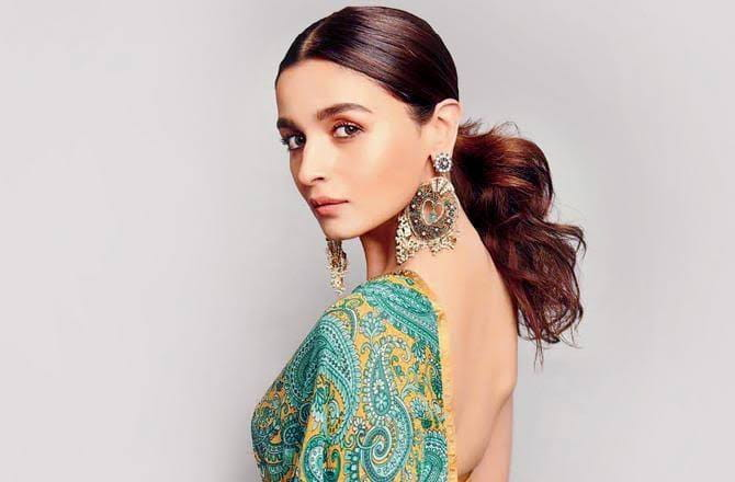 Alia Bhatt in backless dress
