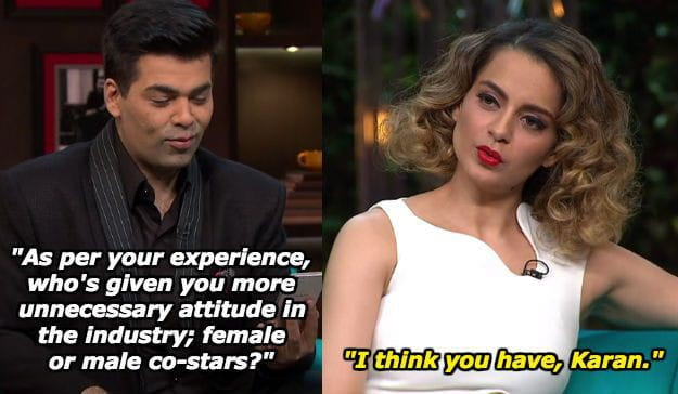 Kangana and Karan Johar