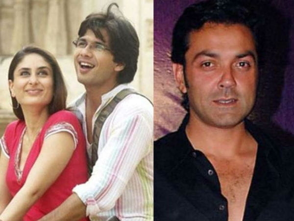 Kareena Kapoor and Bobby Deol