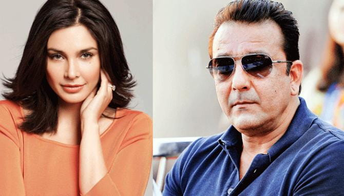 Sanjay Dutt and Lisa Ray