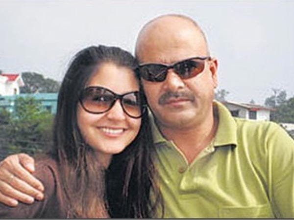 Anushka Sharma With Her Father