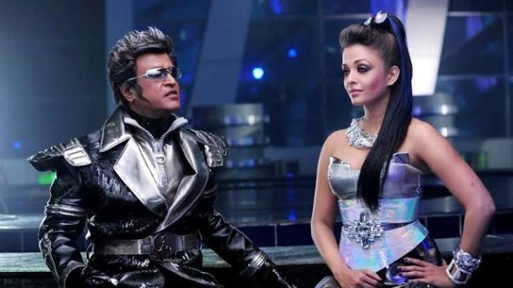 Aishwarya and Rajinikanth