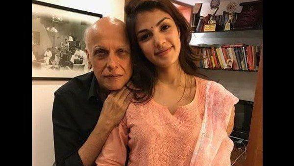 Rhea Chakraborty and Mahesh Bhatt