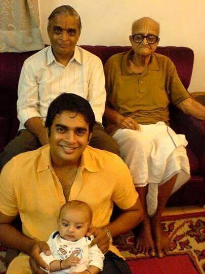 R. Madhavan With His Father
