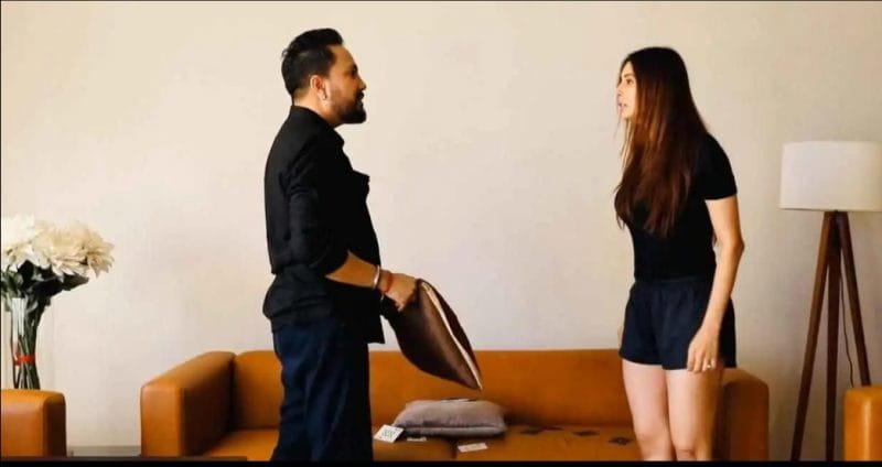 Mika Singh and Chahat Khanna