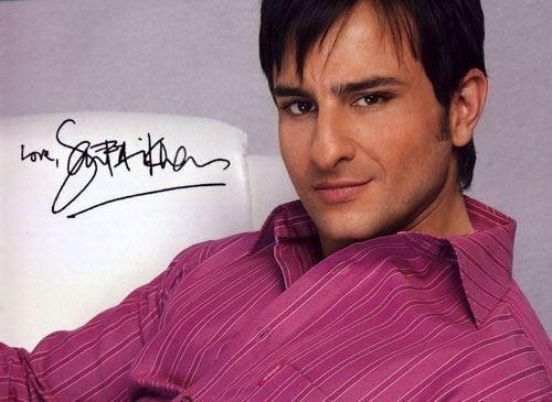 Saif Ali Khan's Autograph