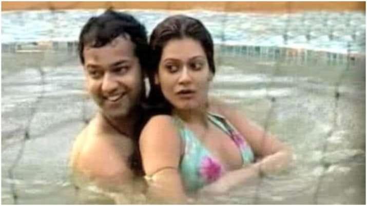 Payal Rohatgi and Rahul Mahajan