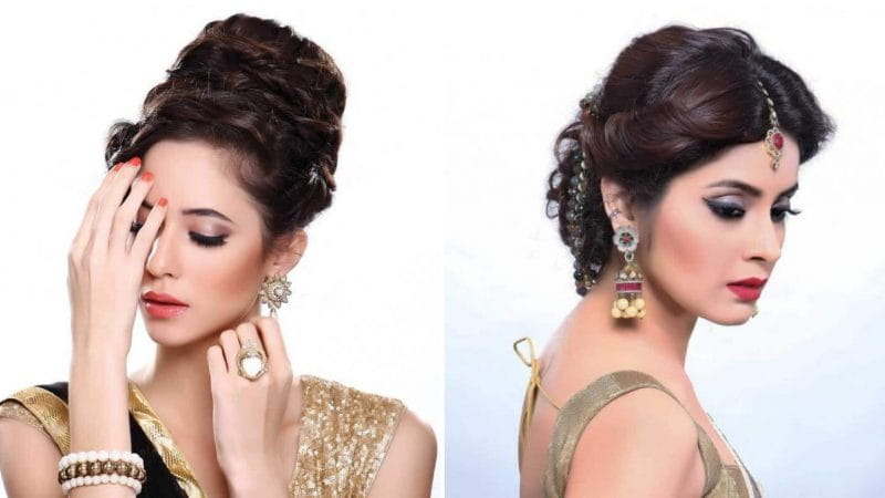 Stylish Bun Hairstyles For Karwa Chauth