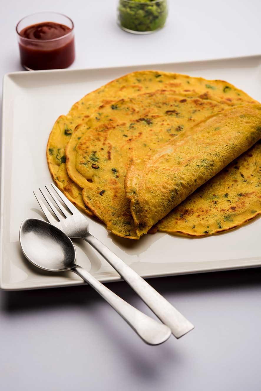 Carrot-Moong Dal Pancake