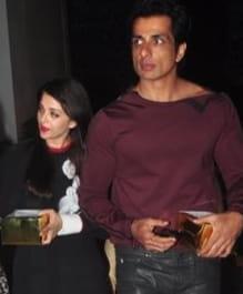 Aishwarya Rai Bachchan and Sonu Sood