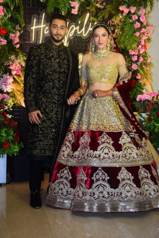 Gauahar Khan And Zaid Darbar's Reception Ceremony