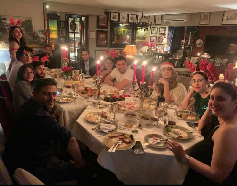 Actor's Christmas party with family