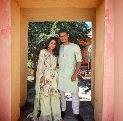 Neil Bhatt And Aishwarya Sharma Roka