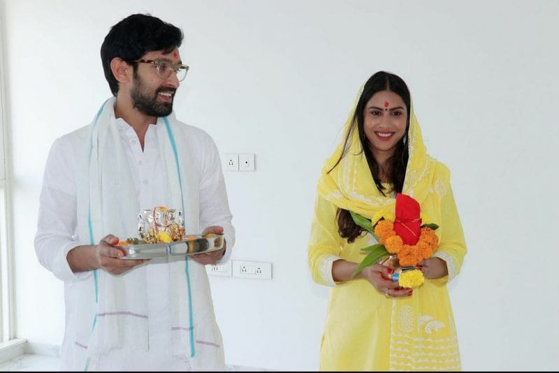 Vikrant Messy with Fiance Sheetal