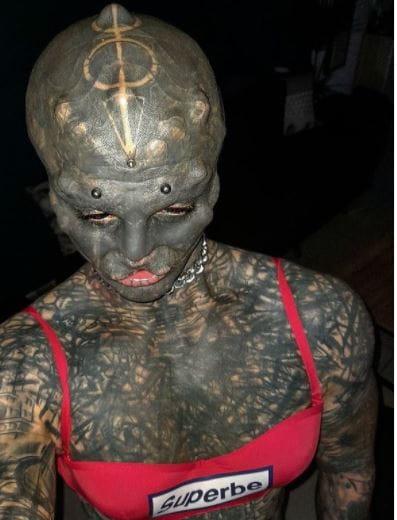 Black Alien Man