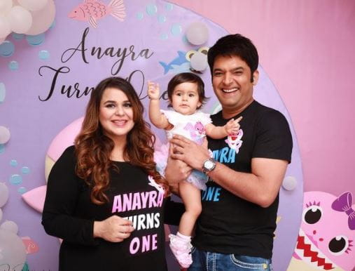 Kapil Sharma With His Daughter