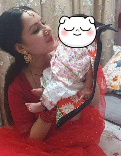 Puja Banerjee's Son