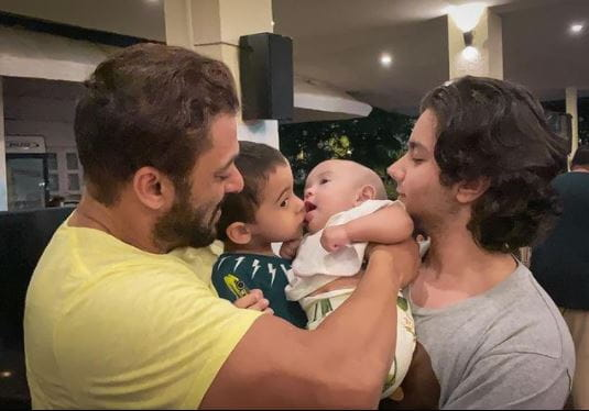 Salman Khan With His Niece Ayat